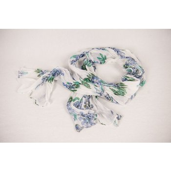 Lady Bird BLUEBONNET SCARF WHITE