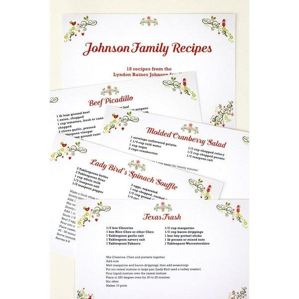 Holiday JOHNSON FAMILY RECIPE CARDS - SET 20