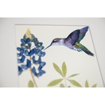 Texas Traditions BLUEBONNET with LARGE HUMMINGBIRD 8X10