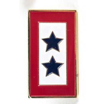 Patriotic DOUBLE BLUE STAR SERVICE FLAG LAPEL TAC PIN
