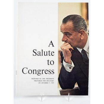 All the way with LBJ ORIGINAL SALUTE TO CONGRESS BOOKLET