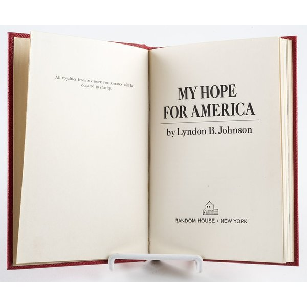 All the way with LBJ VINTAGE - MY HOPE FOR AMERICA BY LBJ