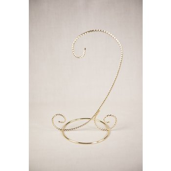 "8.25"" BRASS ORNAMENT STAND"