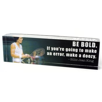 sale-BILLIE JEAN KING QUOTE PRISM