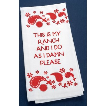Texas Traditions RED RANCH TEA TOWEL