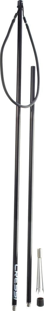 Cressi Cressi Aluminium Hand Spear 3 Pieces 2 Mt 6.5 Ft