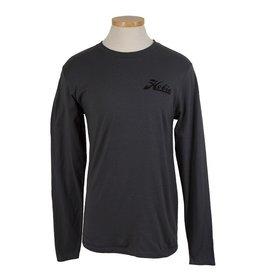 Hobie Hobie Charcoal T-Shirt, Long Sleeve, Hobie Script Logo