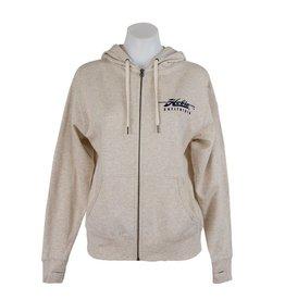 Hobie Hobie Oatmeal Zip Hoodie, Unisex, Hobie Script Logo