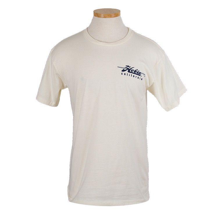 Hobie Hobie Classic Cream T-shirt, Short Sleeve, California