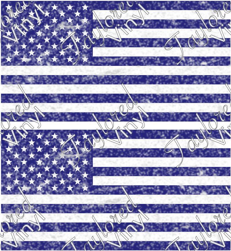 Siser Flag Blue Distressed American Printed HTV