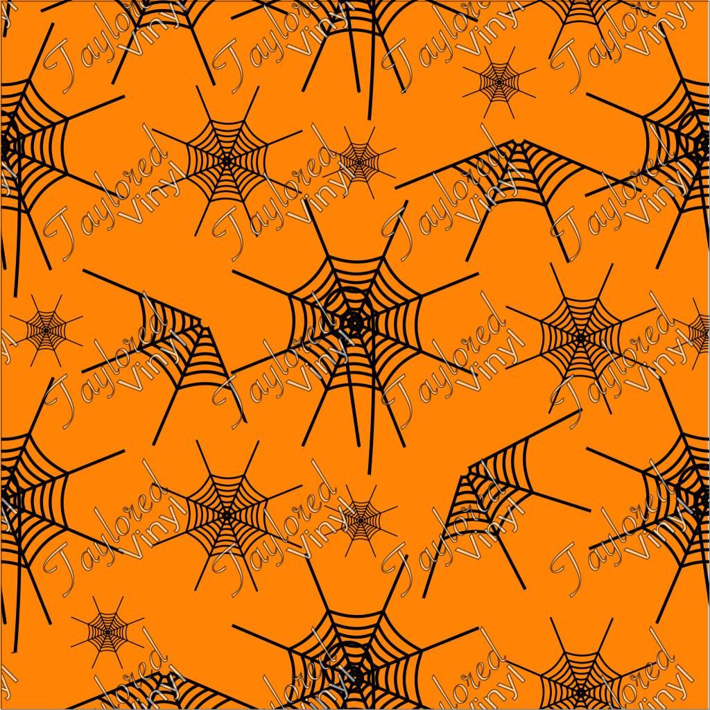 oracal halloween spider web printed vinyl - taylored vinyl