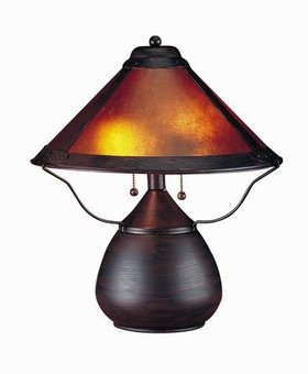 LIGHTING MICA TABLE LAMP RUST FINISH