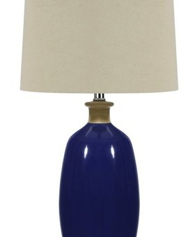 LIGHTING BLUE CERAMIC TABLE LAMPS 150W