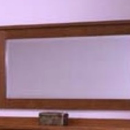 BEDROOM LANDSCAPE MIRROR MISSION CHERRY FINISH SOLID RED OAK