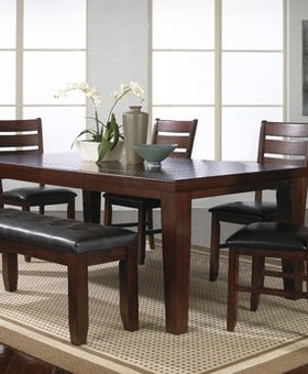 DINING <h2>BARDSTOWN DINING SET WITH BENCH</h2>