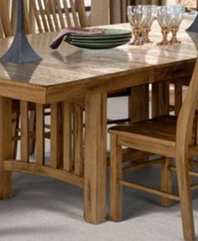 DINING <h2>Laurelhurst Trestle Table - Rustic Oak</h2>
