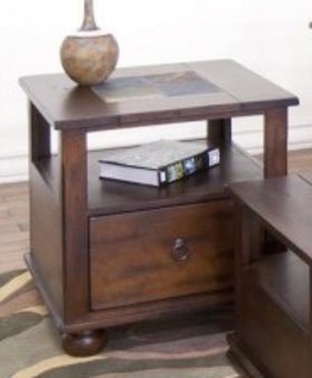 ENTERTAINMENT <h2>SANTA FE END TABLE WITH DRAWER</h2>