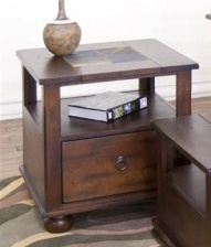 ENTERTAINMENT SANTA FE END TABLE WITH DRAWER