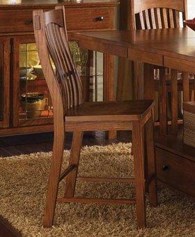 DINING <h2>Laurelhurst Slat Barstool - Mission Oak</h2>