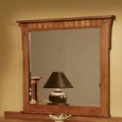 BEDROOM MIRROR FOR 3104 DRESSER MISSION CHERRY FINISH SOLID OAK
