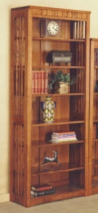"BOOKCASE 84"" BOOKCASE MISSION CHERRY FINISH"