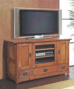 "ENTERTAINMENT 51"" TV CONSOLE MISSION CHERRY FINISH"