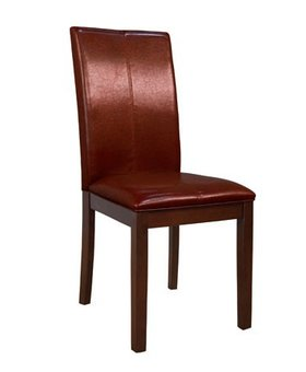 DINING CURVED BACK PARSONS CHAIR RED
