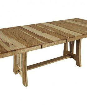 DINING CATTAIL BUNGALOW TABLE  NATURAL FINISH SOLID HICKORY