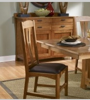 DINING CATTAIL BUNGALOW SIDE CHAIR AMBER FINISH