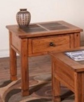 ENTERTAINMENT SEDONA END TABLE SLATE TOP
