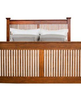 BEDROOM MISSION HILL KING SLAT BED