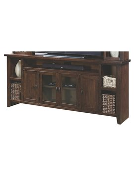 "ENTERTAINMENT 84"" KNOTTY ALDER CONSOLE TOBACCO FINISH"