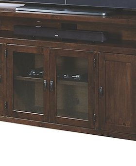 "ENTERTAINMENT <h2>84"" KNOTTY ALDER CONSOLE TOBACCO FINISH</h2>"