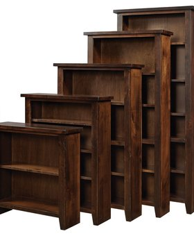 "BOOKCASE <h2>36"" KNOTTY ALDER BOOKCASE TOBACCO FINISH</h2>"