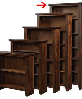 "BOOKCASE <h2>84"" KNOTTY ALDER BOOKCASE TOBACCO FINISH</h2>"