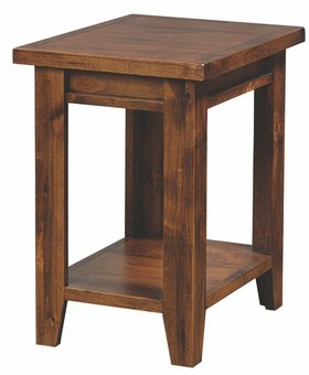 OCCASIONAL TABLE <h2>KNOTTY ALDER CHAIRSIDE TABLE - FRUITWOOD FINISH</h2>