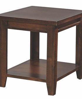 OCCASIONAL TABLE <h2>KNOTTY ALDER END TABLE - TOBACCO FINISH</h2>