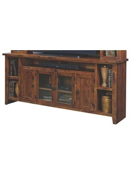 "ENTERTAINMENT 84"" KNOTTY ALDER CONSOLE FRUITWOOD FINISH"