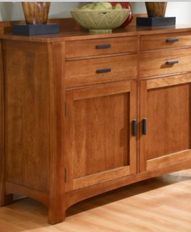 DINING CATTAIL BUNGALOW SERVER SOLID HICKORY