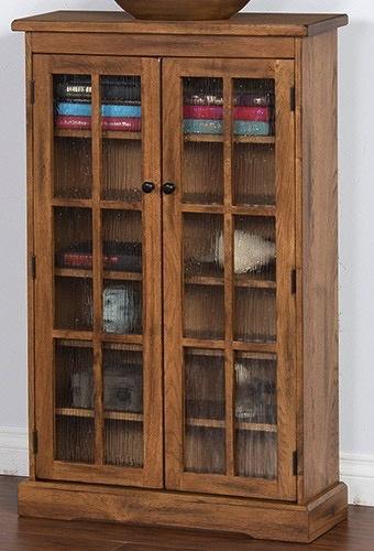 ENTERTAINMENT SEDONA CD/DVD CABINET WITH DOORS