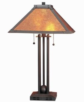 LIGHTING TABLE LAMP WITH MICA SHADE