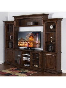 ENTERTAINMENT TUSCANY GRAND 4PC ENTERTAINMENT WALL