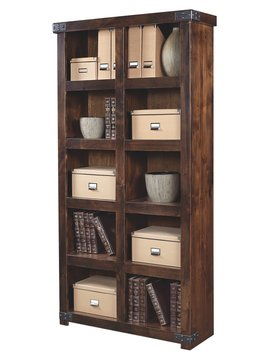 OFFICE INDUSTRIAL DISPLAY CASE TOBACCO FINISH