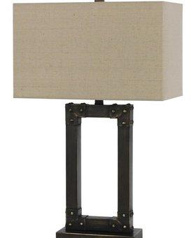 LIGHTING OVATE METAL TABLE LAMP