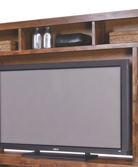 """ENTERTAINMENT 84"""" INDUSTRIAL HUTCH TOP  FRUITWOOD FINISH"""