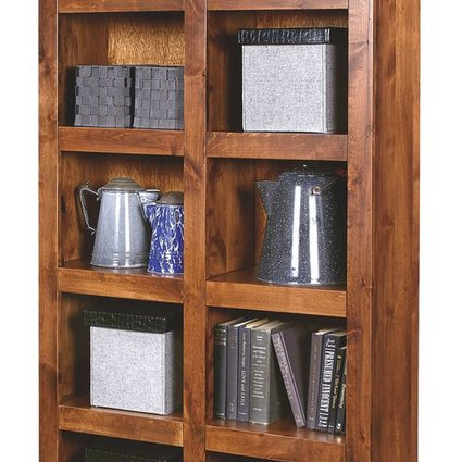 OFFICE INDUSTRIAL DISPLAY CASE FRUITWOOD FINISH