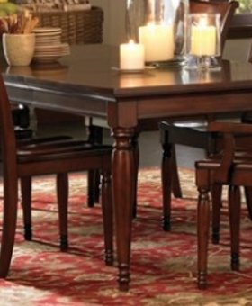 DINING CAMBRIDGE LEG DINING TABLE BROWN CHERRY FINISH