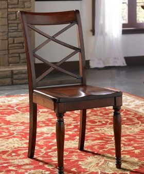 DINING CAMBRIDGE SIDE CHAIR BROWN CHERRY FINISH