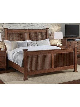 BEDROOM MISSION HILL QUEEN SLAT BED
