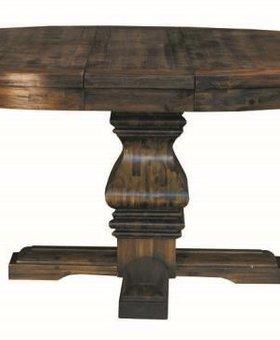 "DINING DAWSON 54"" ROUND PEDESTAL TABLE WITH A 12"" LEAF"
